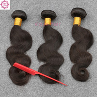 Wholesale Sunlight Brazilian Hair - 7A Malaysian Body Wave 3 Bundles Malaysian Virgin Hair Body Wave Wavy Unprocessed Human Hair Weave Sunlight Queen Hair Products