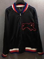 Wholesale Long Silk Jackets Women - 2017 fashion Panthers jacket coat men women panthers jacket
