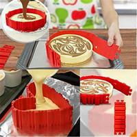 Wholesale Cake Squares - Cooking Moulds Cake Silicone Cake Bake Snake DIY Silicone Cake Baking Square Round Shape Mold Magic Bakeware Too 4pcs Wholesale 0702236