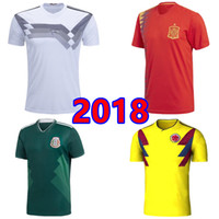 Wholesale Cheap Mexico Football Jerseys - Cheap and Top quality portugaL ArgentIna Italy BelgIum SpaIn soccer Jersey RussIa ColombIa MexIco home away 2018 World Cup football shirt