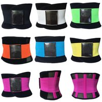 Wholesale Waist Trimmer Belt For Women - wholesale Hot Newest Women Men Adjustable Waist Trainer Trimmer Belt Fitness Body Shaper For An Hourglass Shaper DHL free shipping