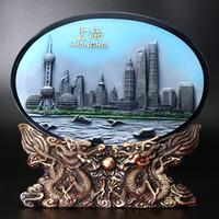 Wholesale Tourism Souvenirs - Crystal relief brick decoration Home Furnishing Decor desk ornaments Shanghai tourism souvenir gift bag mail