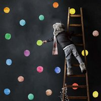 Colorful Paw Print Triangle Polka Dots Pattern Stickers muraux Autocollants amovibles en PVC Stickers pour enfants Stickers Décoration pour la maison