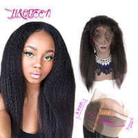 Wholesale virgin frontals - Human Hair 360 Lace Frontal Mongolian Kinky Straight Frontals Unprocessed Virgin Hair Frontals Natural Color Beauty 360 Closure