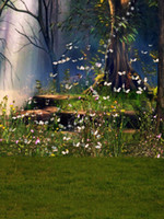 Wholesale Flower Fantasy - Spring Scenic Forest Photographic Background Butterflies Yellow Flowers Trees Green Meadow Outdoor Fantasy Fairy Tale Photography Backdrop