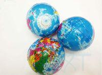 Wholesale World Ball Toy - 2017 hot sale 6.3cm Stress Relief World Map Foam Ball Atlas Globe Palm Ball Planet Earth Bal