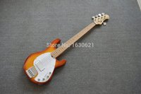 Wholesale Musicman String Bass Guitars - Wholesale- 2015 New + Factory + 5 strings bass music man stingRay Sunburst electric bass Musicman 9V active pickup musicman bass guitar