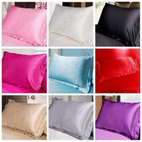 Alta qualidade Multi Cores Silk Pillow Casos dupla Face Envelope Silk Pillowcase Charmeuse Silk cetim Pillow Cover CCA5624 20pcs