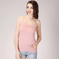 Wholesale Thin Modal Tops - High Quality Summer Style Women Tank Top Camisole Cotton Slim Ladies Thin Vest Bralette