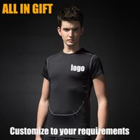 Wholesale Tight Fitting Shirts For Men - 2017 Top quality Sports Tight-fitting T-shirt OEM custom design logo t-shirt wholesale promotion for business gifts and advertising gifts