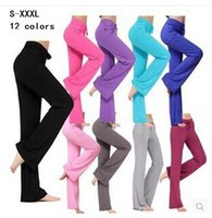 Wholesale Purple Bloomers - Womens Yoga sport Pants Trousers Hot Cotton fitness Practise dance loose long Pants Exercise Lounge Sports Pant Trouser Bloomer plus sizes