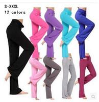 Wholesale Womens Cotton Yoga Pants - Womens Yoga sport Pants Trousers Hot Cotton fitness Practise dance loose long Pants Exercise Lounge Sports Pant Trouser Bloomer plus sizes