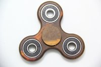 Wholesale Single Speed Toy - Camouflage Wood grain Hand Spinner Fidget Tri Finger Toy For Focus Stress Reliever New Ultra Durable High Speed Steel Ball