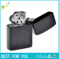 Wholesale New Arrival Fashion Fire Retro Metal Black Frosted Windproof Metal Cigarette Lighter Smoking Fuel Lighters Cigarette Case