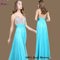 Chiffon Lange Brautjungfern Kleider Sequin Lila Kristall A-Linie V-Ausschnitt Backless Abend Sexy Ärmellos Formal Prom Cocktail Dance Party Dress