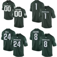 Wholesale Michigan State Football Jerseys - NCAA Michigan State Spartans Mens Womens Kids 8 Kirk Cousins 24 Bell Jersey 100% stitched Custom Any Name Any No. College Football Jerseys