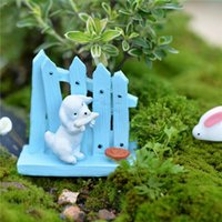 Wholesale Black Dog Fence - New Mini Dog House Fence Resin Crafts Miniature Fairy Garden Decor Resine Micro Landscape Moss Terrarium Figurines Ornament