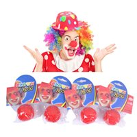 Wholesale Wholesale Magic Circus - Halloween Red Clown Nose Magic Dress Sponge Circus Novelty Foam For Party Cosplay Costumes Masquerade Decorations Christmas Gift Kids Toys