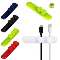 Wholesale Earphone Cable Wire Cord Organizer - Universal Car Desktop cable clips Magnetic Cable Winder Stand Cord Wire Earphone Mobile Phone USB Charger Cable Organizer Holder 3pcs Clips