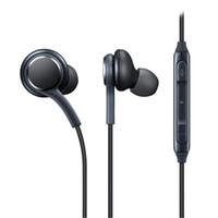 наушники с высокой громкостью оптовых-Для Android телефон наушники в ухо наушники высокое качество микрофонный объем стерео 3,5 мм проводная гарнитура наушники