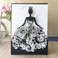 Wholesale Text Design Free - New 50pcs lot Free shipping Laser Cut princess Girl design Wedding Birthday anniversary Party paper Invitation Cards text personalized