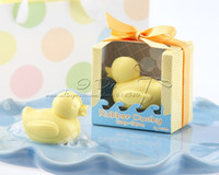 Wholesale Ducky Baby Shower Favors - Wholesale- Free Shipping Baby Shower Rubber Ducky Soap Favors Wedding Favor Wedding Gift Baby Favor