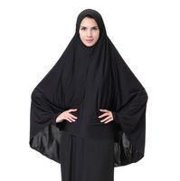 ingrosso sciarpa musulmana del hijab trasporto libero-Sciarpa all'ingrosso, hijab musulmano arabo da donna, hijab nero, spedizione gratuita