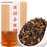 Wholesale Red Screws - C-HC004 Yunnan black tea 200g Chinese Kung Fu Tea Kunming crested early spring honey rhyme gold screw black red Dianhong food