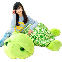 Wholesale Turtle Teddy - 2017 New 59'' Giant Plush Stuffed Big Turtle Tortoise Toy 150cm Kids Gift Free Shipping FT90552