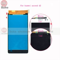 Wholesale Ascend D2 - Wholesale-For Huawei Ascend D2 Lcd Display Screen with Digitizer Touch Screen Assembly 100% Original Black white