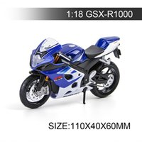 Wholesale Motor Bike Models - SZK Motorcycle Models GSXR1000 model bike 1:18 scale Alloy motorcycle model motor bike miniature race Toy For Gift Collection