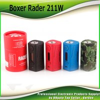 Wholesale Wholesale Ecig Atomizers - Original Hugo Vapor Rader 211W Box Mod VW 2 18650 Battery TC Mod For 510 Thread Atomizer Tanks Ecig Vape Mods 100% Authentic
