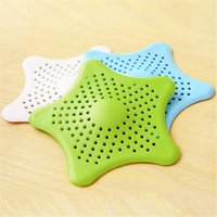 Wholesale Point Coffee - Five Pointed Star Sink Filter Shower Hair Sewer Colanders Strainer Anti Blocking Silicone Floor Drain Creative 1 35fn B R