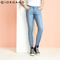 All'ingrosso Giordano donna pro Jeans Tapered denim pantaloni lunghi jeans morbidi e pantaloni denim stretch Femme Pantalon Donna Pantaloni