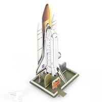 rompecabezas de papel 3d al por mayor-Venta al por mayor- DIY Puzzle Space Shuttle Rocket 3D Estéreo Jigsaw Puzzle Toy Space Shuttle Modelo de papel Juguete creativo para el regalo de cumpleaños de los niños