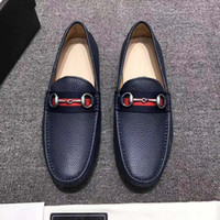 Wholesale Horsebit Loafers - luxury 2017 quality Men's Horsebit leather drive. Leather loafer designed with an elongated toe free shipping size38-44Leather sole