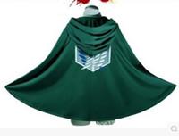 Wholesale cosplay cos for sale - Anime Shingeki no Kyojin Cloak Cape clothes cosplay Attack on Titan long cloak cape coat cartoon clothing COS