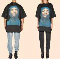 Wholesale Men S Baggy Shorts - 2017 newest us hiphop vetements snoop dogg men unisex short sleeved t shirt Fashion casual baggy cotton tee black white S-XL