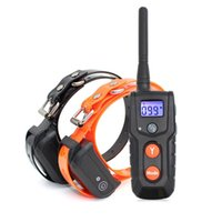 Wholesale Two Dog Shock Collar - Shock Collar for Dogs 100% Waterproof Electric Dog Shock Collar with Remote Rechargeable Dog Training Collar with Beep Vibrating (10-100lbs)