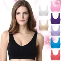 Wholesale Pink Animal Print Ribbon - Women corset Underwear Thin yoga sports bras Large size seamless bra fitness workout sportswear bars #999