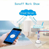 Wholesale Rf Electrical Switch - Free Shipping Smart Home ITEAD Sonoff RF-WiFi Wireless Remote Smart Switch Common Modification Parts for all kinds electrical product