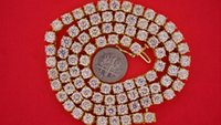 46 Carats Huge Solitaire White Diamond One Row Tennis Collana Chain Bling Video