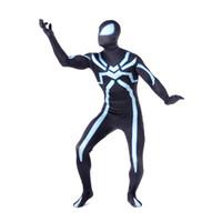 traje de spiderman increíble de zentai al por mayor-Traje de Spiderman de Halloween Superhéroe Cosplay Mono elástico Increíble traje Spenterman Spandex Zentai