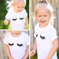 Wholesale Organic Cotton Tee Shirts Wholesale - INS Baby Clothes Summer 2017 Boys Girls Kids T-shirt Ice Cream Printed Cotton Newborn White T-shirt Tees Children Kids Clothing 515