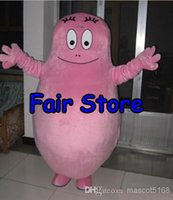 Wholesale Cartoon Character Costumes Prices - Best Price pink BarbaPapa Mascot Costume Lovely Barba Papa Cartoon Character Adult Mascotte Outfit Suit EMS free Ship