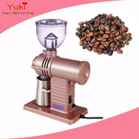 Food Mills Metal Stocked 110v 220v commercial electric coffee grinder coffee grinding machine tooth disc electric coffee bean grinder mini high quality