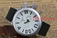 relojes de pulsera al por mayor-2019 diseñador para hombre reloj deportivo 50 mm barco grande de plata negro de goma clásico redondo automático gancho izquierdo mano U masculino relojes