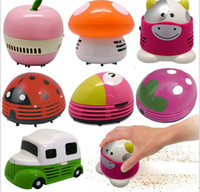 Wholesale Desktop Dust Cleaner - Electric Vacuum Cleaner Dust 2017 NEW Authentic Colored Mushrooms Desktop Desktop Vacuum Cleaner Mini Vacuum Cleaner Cartoon
