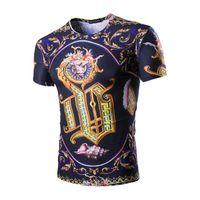 Wholesale Tshirts For Boys - Casual Hip Hip Tshirts For Boy Brand Luxury T Shirt Wholesale 2017 Hot Print T Shirts Summer Fashion Hiphip Tees
