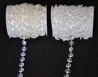 perles de décoration de mariage achat en gros de-Gros-30 Mètres Diamant Cristal Acrylique Perles Rouleau Suspendu Guirlande Strand Mariage Anniversaire De Noël Décor DIY Rideau WT052